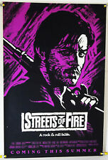 STREETS OF FIRE ROLLED ADV ORIG 1SH MOVIE POSTER MICHAEL PARE DIANE LANE (1984)