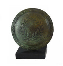 Bronze mini shield with Olive wreath and Meander design - Goddess Athena