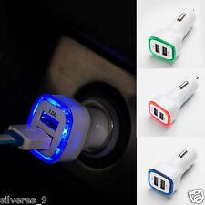 2.1A LED USB Dual 2 puertos Adaptador Enchufe Cargador de coche Para Iphone