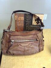 "fossil brown leather hobo shoulder handbag 13""x8""x3.5"""