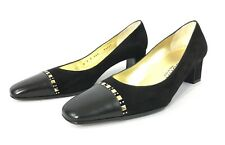 St.John Women Black Pump Heels Size 7 B Made In Italy Excellent
