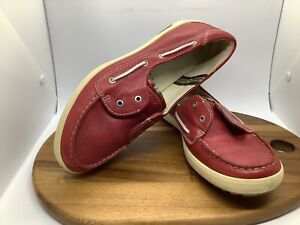 Ecco Burgundy Red Patent Casual Sneakers Comfort Shoes Leather Size 40/ Au 9