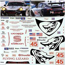 Porsche GT3 Flying Lizard #45 black 1:18 Decal