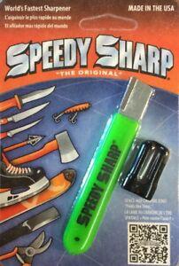 "Speedy Sharp Carbide Knife Sharpener ""The Original"" NEON GREEN"