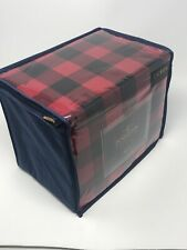 Pendleton Rob Roy Red/Black Plaid Flannel 4 pc Queen Sheet Set
