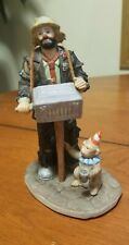 Emmett Kelly Jr Miniature Collection from Flambro Hurdy Gurdy Man Porcelain 5""