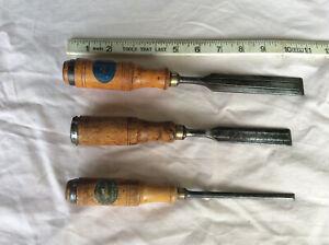 3 E A BERG ( eskilstuna) bevel edge chisels