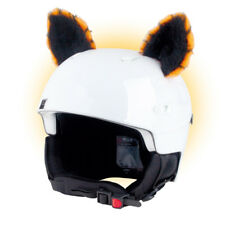Stick-on ears for skiing helmet - Orange Cat - ski bike Decoration Cover kids