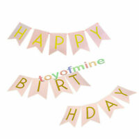 "Papier ""HAPPY BIRTHDAY"" Girlande Geburtstag Party Bunting Banner Dekoration"