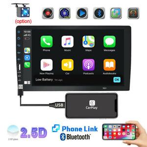 "9"" Single 1 DIN Car AM FM Stereo Radio MP5 Player Carplay Touch Screen Bluetooth"