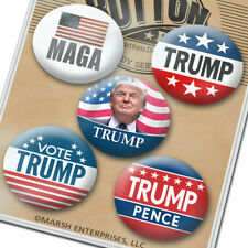 "5 Buttons - 1.5"" Donald Trump Mike Pence Button - 2020 Election President"