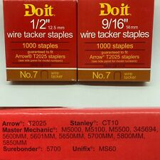"Wire Tacker Staples For Arrow T2025 & Other staplers 1/2"" 9/16"""