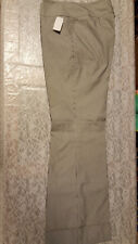NWOT Entier Classiques Women's White Black Pin Striped Wide Band/Cuff Pants Sz12
