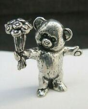 Vintage 960 Grade Silver Miniature Teddy Bear