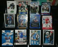 Lions RC rookie Prizm Optic card lot T.J. Hockenson D'Andre Swift Kenny Golladay
