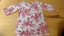Eternal Creation baby girls size 1 cotton red white floral hippy dress 12-18 mon