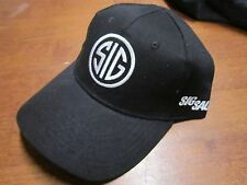 Sig Sauer Baseball Ball Cap Hat Black and White Logo Adjustable Strap NEW
