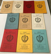 10 Years of MARYLAND STATE FIREMAN'S ASSOCIATION Convention Proceeding 1960-1969