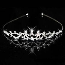 9ct Round D/VSS1 Diamond Women's Headpiece Tiaras Crown in 18k White Gold Over