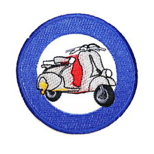 Vespa MODS Lambretta Target Team Racing Motorcycle Scooter Emblem Iron on Patch