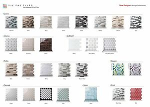 Tic Tac Tiles 3D Peel and Stick Wall Tiles 23~30cm x 23~30cm x 1 sheet (Sample)