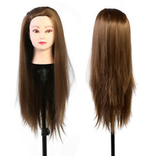 Practice Training Head Hairdressing Mannequin Doll Human Long Hair Salon Model #