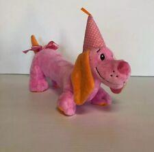 Baby Ganz Pink Birthday Daschund Weiner Puppy Dog Plush Stuffed Animal