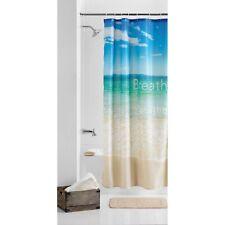 Mainstays Fabric Shower Curtain Breathe Bathroom Floor Bath Polyester Home Decor