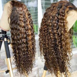 Honey Blonde Ombre 13x4 & 4x4 Deep Wave Human Hair Wig