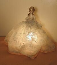 rare antique handmade bisque porcelain figure figural doll electric table lamp