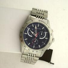 Gucci Swiss YA126254 G Timeless Chronograph Stainless Steel Link Quartz Watch