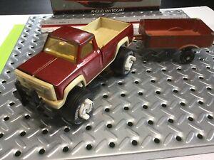 1970s Tonka Pick Up Truck & Silk Toy Trailer