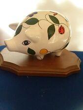Painted Ceramic Pig Piggy Bank
