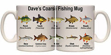 COARSE FISHING SPECIES PERSONALISED MUG WITH NAME (SP11) OTHER GIFTS AVAILABLE