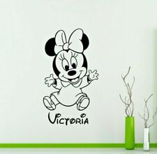 Disney Font Wall Sticker Mickey Mouse Minnie Baby Girl Personalisation Name