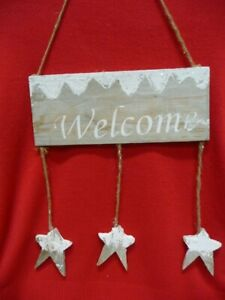 Rustic Wooden Welcome hanging sign