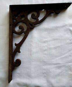 Antique Style Cast Iron Rustic Vintage Shelf Support Hanging Basket Bracket