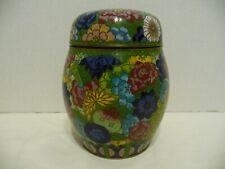 Antique Chinese Cloisonne Ginger Jar W / Lid