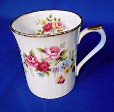 "Coffee Tea Mug Cup Regal Heritage Bone China Multi-colored floral White 3 1/2"""