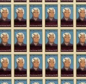 #2137 22¢ MARY McLEOD BETHUNE full mint sheet of 50 MNH OG