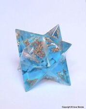 Reiki EnergyCharged  Turquoise Merkaba Star Powerful Energy Generator Uk