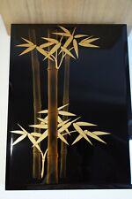 Authentic Japanese Wooden Wajima Lacquered Box - Japanese Bamboos