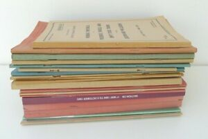 Lot of 20 Employee Railway Working Train Timetables 1970s, 1980s, 1990s