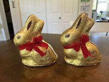 Lot of 2 Lindt Gold Bunny Milk Chocolate 3.5 oz. | Expires 8/31/2020
