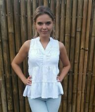 Damen Bluse weiß Tunika Sommer Shirt 32 34 36 38 40 42 44 46 48 50 Top neu 839