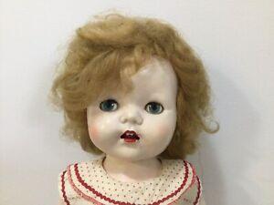English Hard Plastic Pedigree Walking Doll Original Outfit 22 Inch