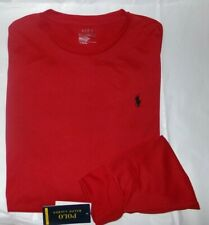 NWT MENS Polo Ralph Lauren L/S Performance T-Shirt~RED~MED