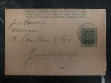 1894 Georgetown British Guiana Wrapper Cover To Guadeloupe Island