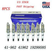 8pcs Platinum Spark Plugs Acdelco 41-962 For Chevrolet Buick Gmc 19299585 41962 (Fits: Saab)