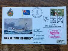 GB 1971 , 20 Maritime Regiment Cover